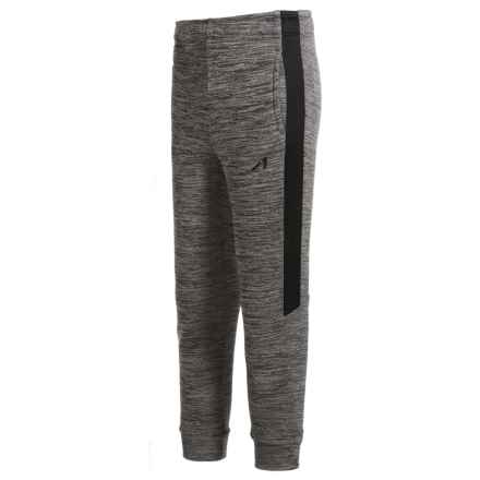 Layer 8 AL1VE Tech Fleece Joggers (For Big Boys) in Greystone Heather/Black - Closeouts