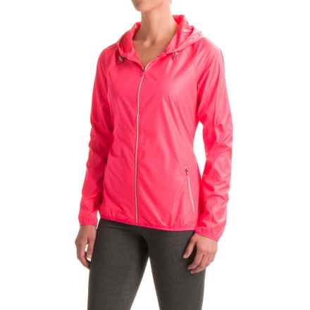 Layer 8 Barricade Wind Jacket (For Women) in Pink Glam Embossed Combo - Closeouts