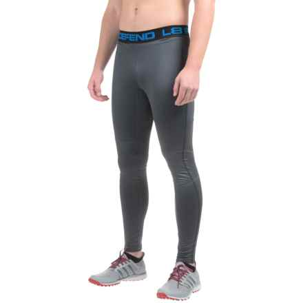 Layer 8 Cold Gear Embossed Tights (For Men) in Greystone Emboss - Closeouts