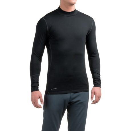 Layer 8 Cold Weather Mock Neck Shirt - Long Sleeve (For Men) in Rich Black