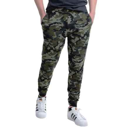 Layer 8 CVC Fleece Joggers (For Men) in Olive Camo Print - Closeouts