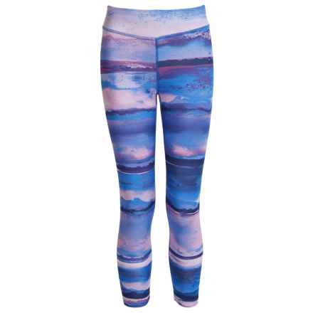 Layer 8 Daybreak Print Leggings (For Big Girls) in Orchid - Closeouts