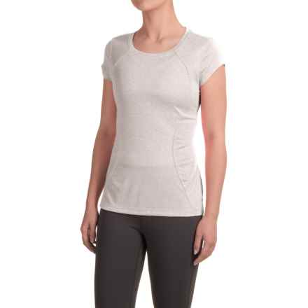 Layer 8 Fast Track T-Shirt - Short Sleeve (For Women) in Light Grey Heather/Light Grey - Closeouts