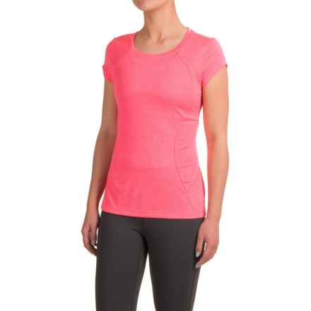 Layer 8 Fast Track T-Shirt - Short Sleeve (For Women) in Pink Glam Heather/Pink Glam - Closeouts