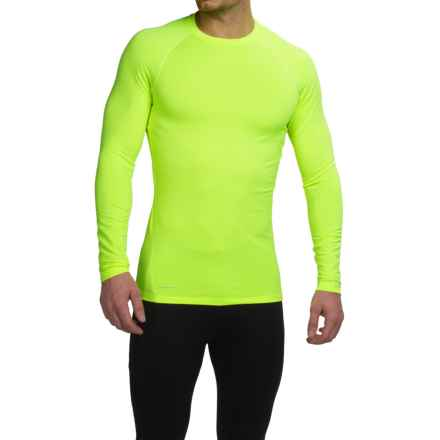 Layer 8 Fitted Base Layer Top - Long Sleeve (For Men) in Acid Yellow - Closeouts