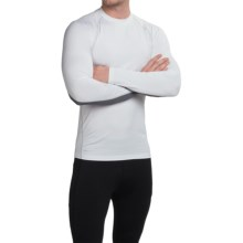 Layer 8 Fitted Base Layer Top - Long Sleeve (For Men) in Arctic White/Charcoal Grey Heather - Closeouts