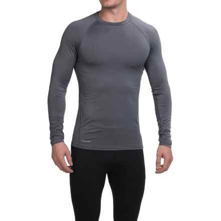 Layer 8 Fitted Base Layer Top - Long Sleeve (For Men) in Lead Grey/Charcoal Grey Heather - Closeouts