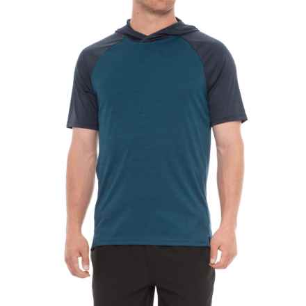 16f39b9a48d6a Layer 8 Heather Hoodie - Short Sleeve (For Men) in Blue Heron Heather -