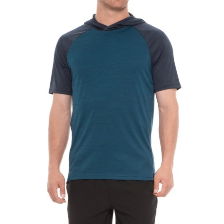 Layer 8 Heather Hoodie - Short Sleeve (For Men) in Blue Heron Heather