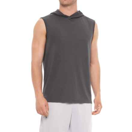 Layer 8 Heather Mesh Hoodie - Sleeveless (For Men) in Castlerock Heather - Closeouts