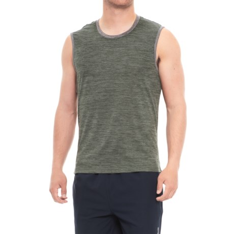 Layer 8 Heather Muscle Tank Top (For Men) in Dark Cement Heather