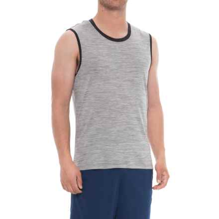 Layer 8 Heather Muscle Tank Top (For Men) in Sharskin Heather - Closeouts