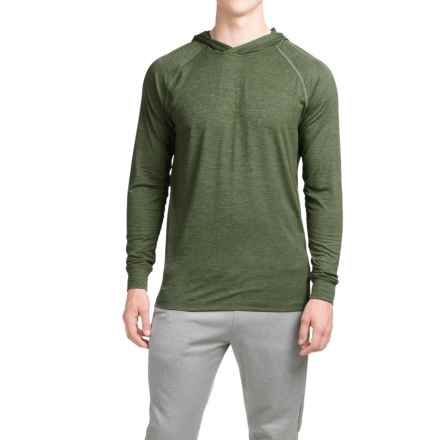 Layer 8 Heathered Hooded Shirt - Long Sleeve (For Men) in Army Green Heather - Closeouts