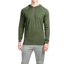 Layer 8 Heathered Hooded Shirt - Long Sleeve (For Men) in Army Heather/Green Black - Closeouts