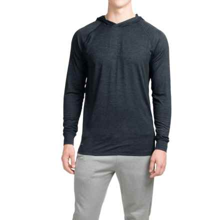 Layer 8 Heathered Hooded Shirt - Long Sleeve (For Men) in Greystone Heather/Rich Black - Closeouts