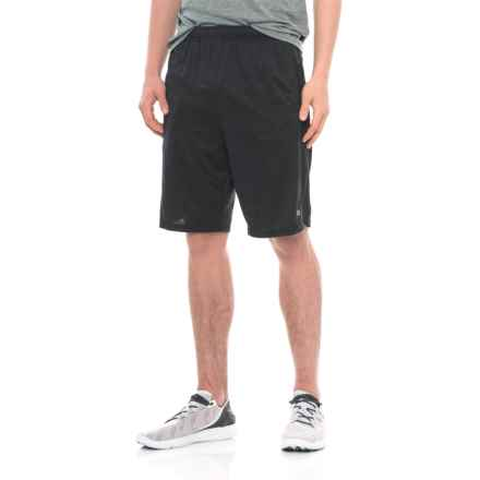 Layer 8 Heathered Knit Training Shorts (For Men) in Black Heather - Closeouts