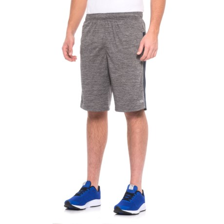 Layer 8 Heathered Knit Training Shorts (For Men) in Grey Heather