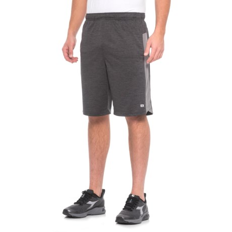 Layer 8 Heathered Knit Training Shorts (For Men) in Obsidian Heather