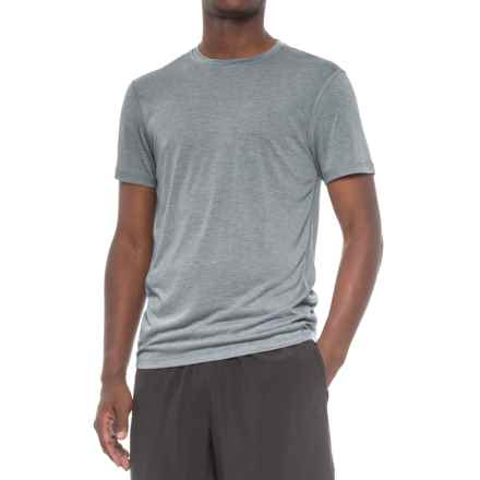 Layer 8 Heathered Training T-Shirt - Short Sleeve (For Men) in Blue Eclipse Heather - Closeouts