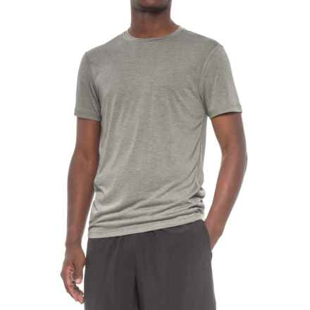 Layer 8 Heathered Training T-Shirt - Short Sleeve (For Men) in Dark Olive Heather - Closeouts