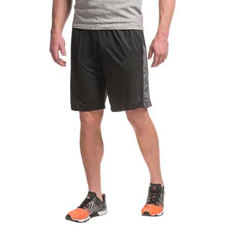 "Layer 8 Knit Training Shorts - 9.5"" (For Men) in Rich Black/Greystone Heather - Closeouts"