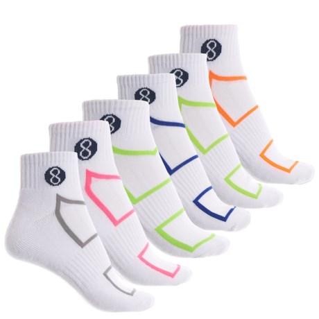 Layer 8 Lightweight Socks - 6-Pack, Quarter Crew (For Women)