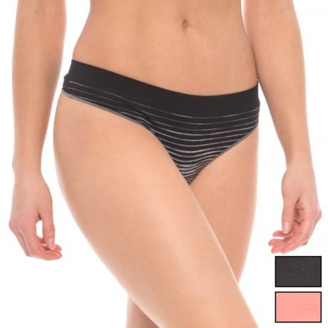 Layer 8 Logo Seamless Panties - 3-Pack, Thong (For Women)
