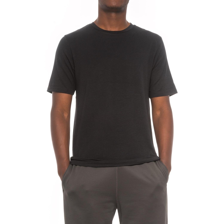 Black t shirt short sleeve - Layer 8 Lounge T Shirt Short Sleeve For Men In Black