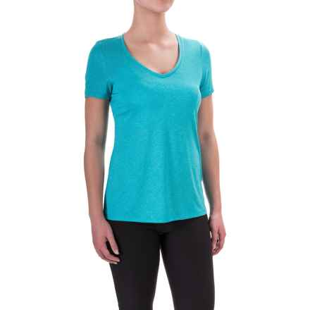 Layer 8 Mini-Stripe T-Shirt - Short Sleeve (For Women) in Peacock - Closeouts