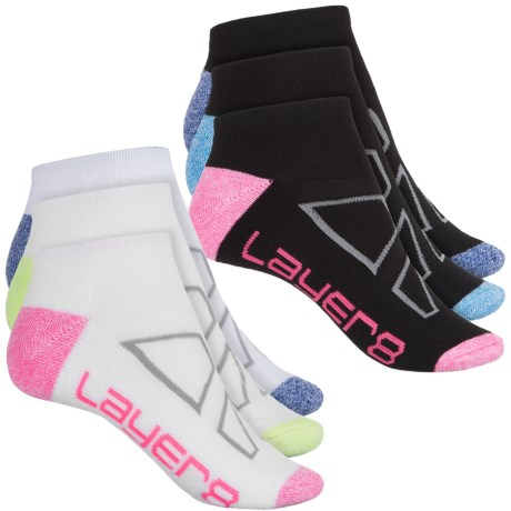 Layer 8 No-Show Socks - 6-Pack, Below the Ankle (For Women)
