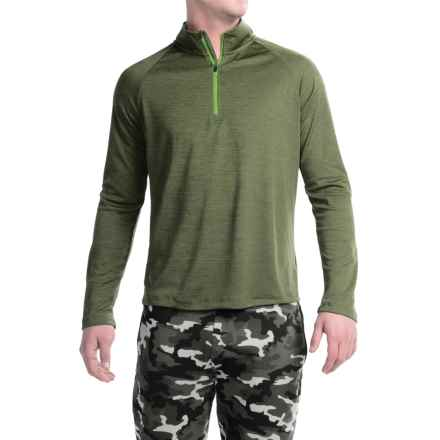 Layer 8 Performance-Layering Shirt - Zip Neck, Long Sleeve (For Men) in Army Green - Closeouts