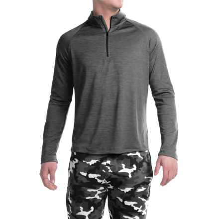 Layer 8 Performance-Layering Shirt - Zip Neck, Long Sleeve (For Men) in Rich Black - Closeouts