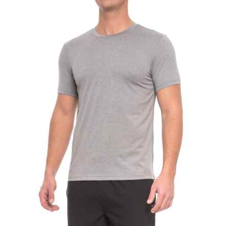 Layer 8 Poly-Suede Athletic T-Shirt - Short Sleeve (For Men) in Sharkskin Heather - Closeouts