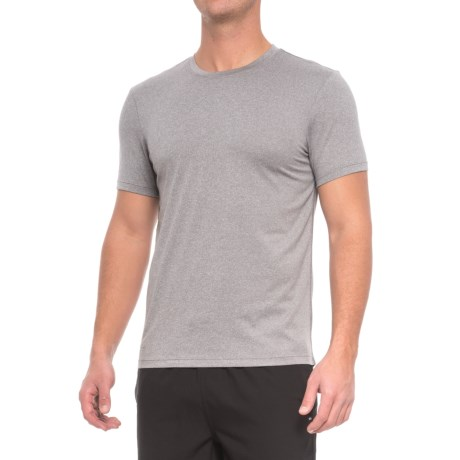 Layer 8 Poly-Suede Athletic T-Shirt - Short Sleeve (For Men) in Sharkskin Heather