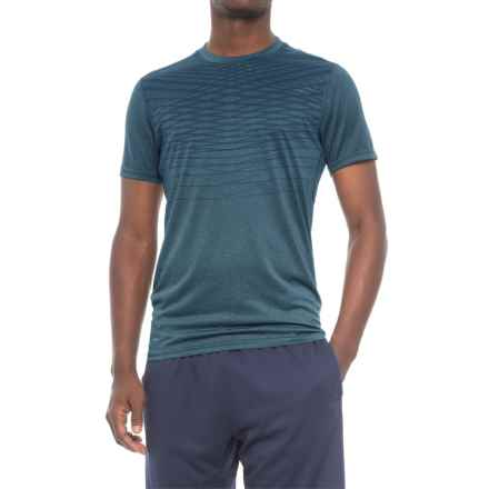 Layer 8 Print Training T-Shirt - Short Sleeve (For Men) in Blue Eclipse Heather - Closeouts