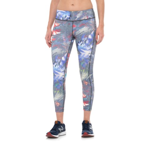 Layer 8 Printed Crop Leggings (For Women) in Pop Rocks Print