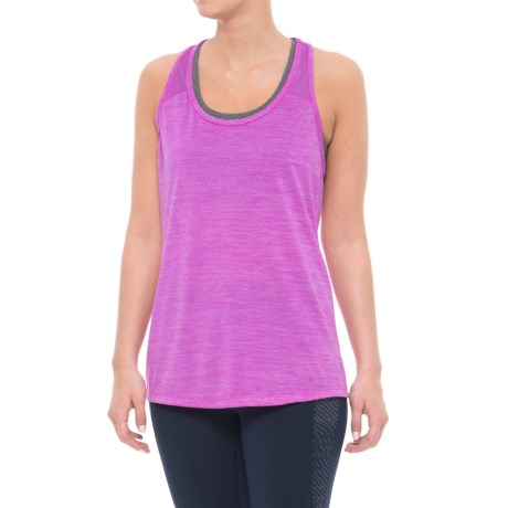 Layer 8 Racerback Tank Top (For Women) in Neon Pruple Heather/Neon Purple