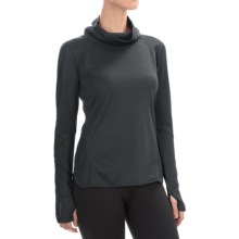 Layer 8 Ruched Cowl Neck Shirt - Long Sleeve (For Women) in Ebony - Closeouts