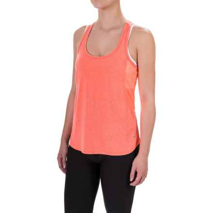 Layer 8 Running Tank Top - Racerback (For Women) in Electric Coral Stripe - Closeouts