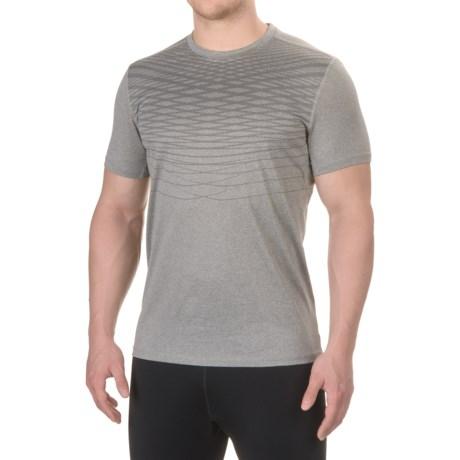 Layer 8 Screenprint Training T-Shirt - Short Sleeve (For Men) in Med Grey Heather