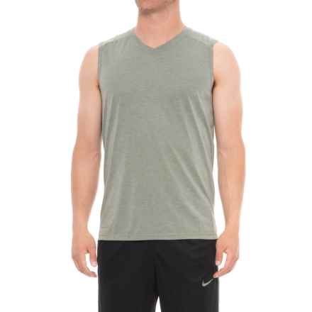 Layer 8 Soft Hand Heather Jersey T-Shirt - V-Neck, Sleeveless (For Men) in Green Smog Heather - Closeouts