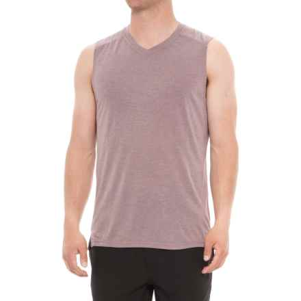 Layer 8 Soft Hand Heather Jersey T-Shirt - V-Neck, Sleeveless (For Men) in Huckleberry Heather - Closeouts