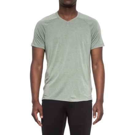 Layer 8 Soft Hand Heather V-Neck T-Shirt - Short Sleeve (For Men) in Green Smog - Closeouts