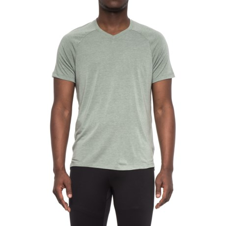 Layer 8 Soft Hand Heather V-Neck T-Shirt - Short Sleeve (For Men) in Green Smog