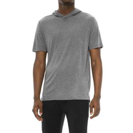 Layer 8 Soft Hand Lux Jersey Hooded Shirt - Short Sleeve (For Men) in Obsidian Heather - Closeouts