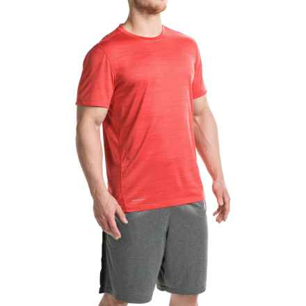 Layer 8 Space-Dyed Heather T-Shirt - Crew Neck, Short Sleeve (For Men) in Chinese Red Heather - Closeouts