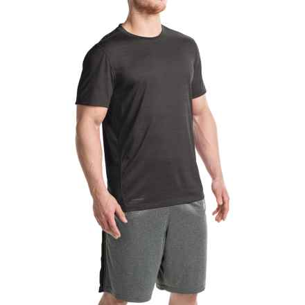 Layer 8 Space-Dyed Heather T-Shirt - Crew Neck, Short Sleeve (For Men) in Greystone Heather - Closeouts