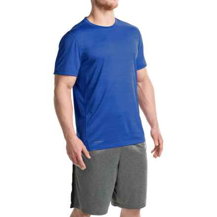 Layer 8 Space-Dyed Heather T-Shirt - Crew Neck, Short Sleeve (For Men) in Royal Blue Heather - Closeouts