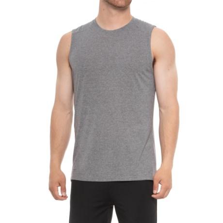 Layer 8 Static Heather T-Shirt - Sleeveless (For Men) in Castlerock Heather