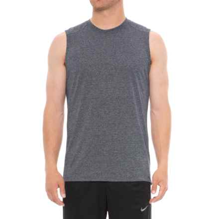 Layer 8 Static Heather T-Shirt - Sleeveless (For Men) in Dark Navy Heather - Closeouts
